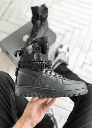 Кроссовки высокие nike air force special field black