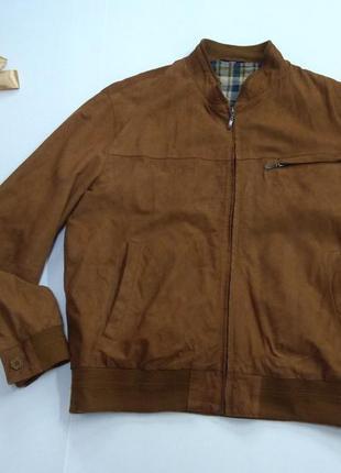 Кожаная куртка на манжете maddox размер 50-52