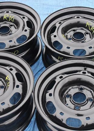 Стальные диски R14 4*100 из Германии в идеальном состоянии