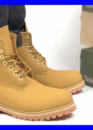 Мужские ботинки Timberland Premium ( Тимберленд рыжие зимние) ...