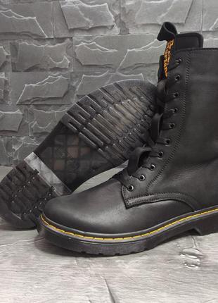 Мужские зимние ботинки в стиле dr. martens 🔥натуральная кожа, ...