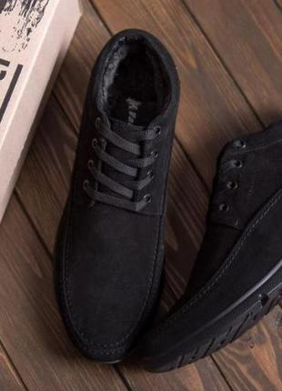 Мужские зимние замшевые ботинки vankristi