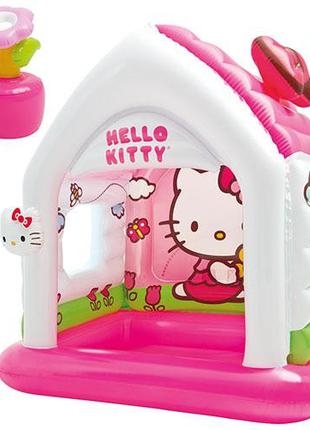 Детский надувной игровой центр домик Hello Kitty 48631