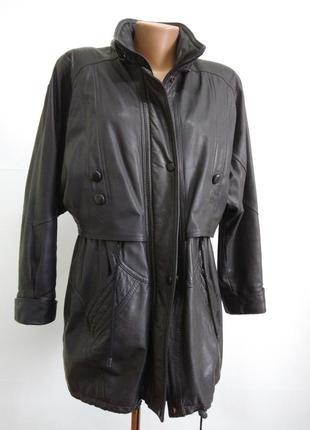 Кожаная куртка  размер 48-50