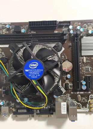 Материнская плата MSI H110M pro vd plus + процессор intel i3 6100