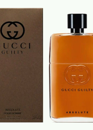 Мужская парфюмерная вода Gucci Guilty Absolute Pour Homme, 90 мл