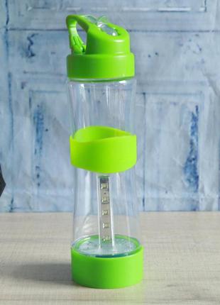 Бутылка спортивная туристическая 2в1. Бутылка с ЛЭД фонарем