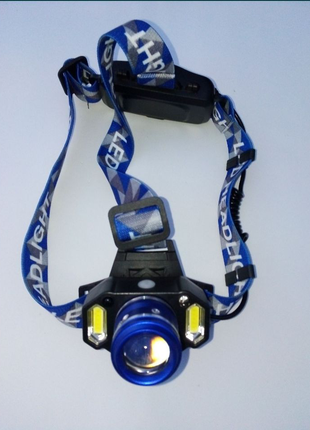 Фонарик налобный фонарь ліхтарик с датчиком движения лампа