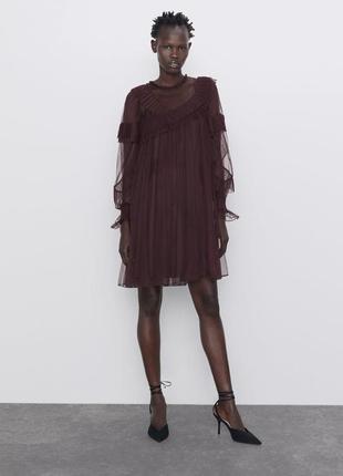 Платье из тюля от zara