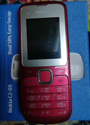 Nokia C2-00 Dual SIM, Easy Swap (red)