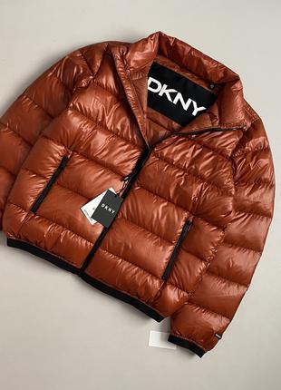 НОВАЯ брендовая куртка пуховик оригинал из США DKNY