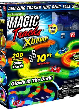 Magic Tracks Оригинальный гоночный светящийся конструктор