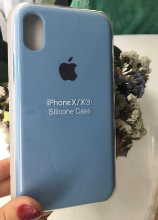 Чехол Apple silicone case для iPhone XS /X