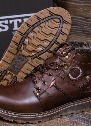 Зимние Кожаные Ботинки На Натуральном Меху Kristan