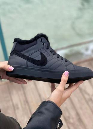 Шикарные мужские зимние ботинки nike black наложенный платёж