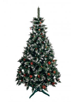 """Ялинка """"Різдвяна"""" з шишкою та калиною 1,80 м."""