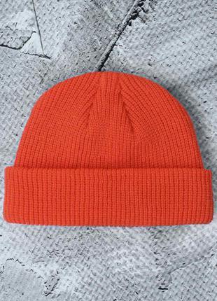 Шапка докер, докерка, укороченная шапка выше ушей, рыбацкая шапка