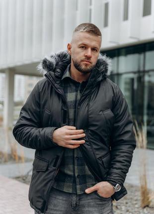 Мужская зимняя куртка/ парка black