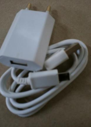 Сетевое зарядное устройство + кабель USB-Micro USB