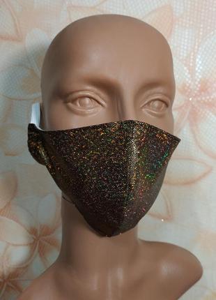 Золотая защитная маска многоразового использования
