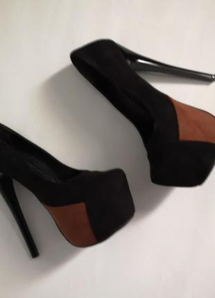 Туфли на скрытой платформе, высокий каблук, 22,5 см