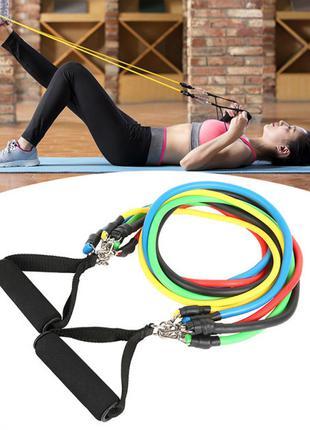 Набор трубчатых эспандеров для силовых тренировок и фитнеса