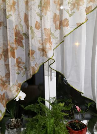 Занавеска штора тюль два угла