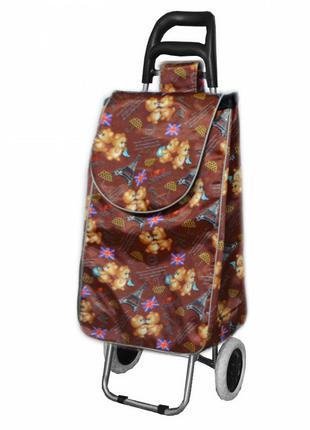 Дорожная хозяйственная сумка на колесах мишки