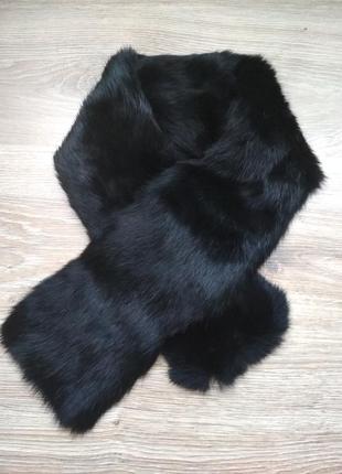Воротник шарф из меха кролика