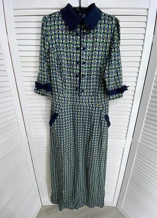 Piena длинное платье в пол зеленое макси синее