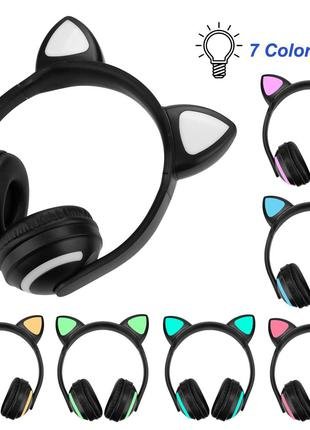 Наушники накладные Cat Ear Headphones с ушками LED
