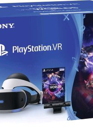 Sony Playstation VR + камера + игра VR Worlds