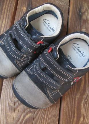 Туфли ботиночки ботинки clarks first shoes размер 4,5 f (21), ...