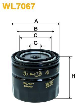 Фильтр масляный WIX WL7067 (OP 520) ВАЗ 01-07