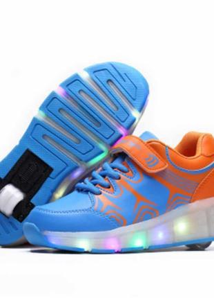 Aimoge led кроссовки ролики светящиеся унисекс