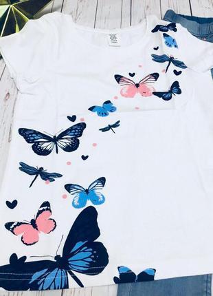 Костюм джинсы и футболка для девочки 6/7 и 7/8 лет от h&m 450 грн