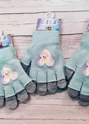 Двойные перчатки для девочки холодное сердце pepco
