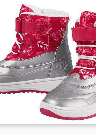 Зимние термо сапоги ботинки для девочки 24 и 28 размеры lupilu...