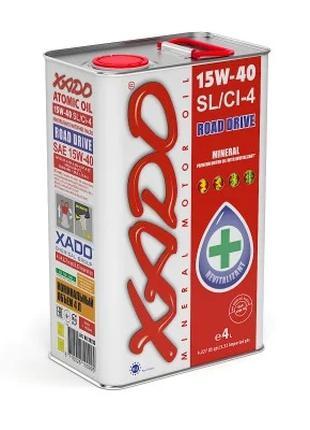 Моторное масло XADO Atomic Oil 15W-40 SL/CI-4 4l