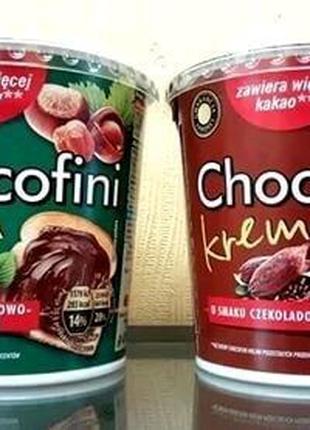 Шоколадный и орехово-шоколадный крем-паста Chokofini