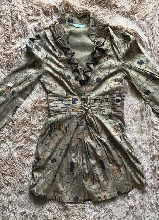 Нарядная туника-блузка