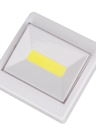 Светодиодный LED светильник ночник выключатель на батарейках (фон
