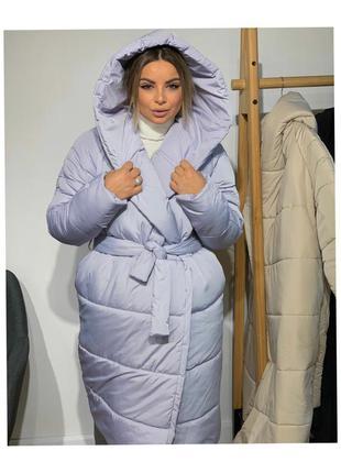 Куртка одеяло палатка женская длинная зимняя