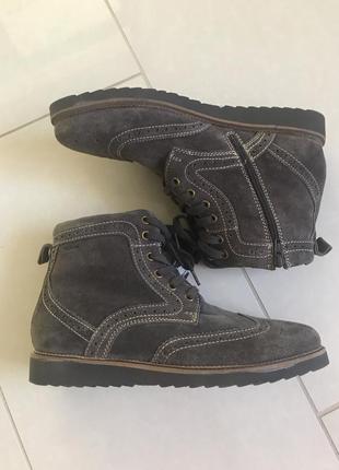 Ботинки кожаные утеплённые стильный модный дор огой бренд герм...