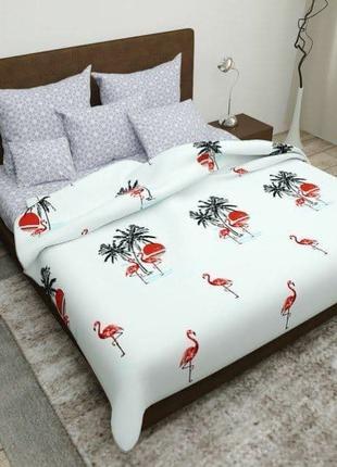 Комплект  постельного  белья «Красный  фламинго»