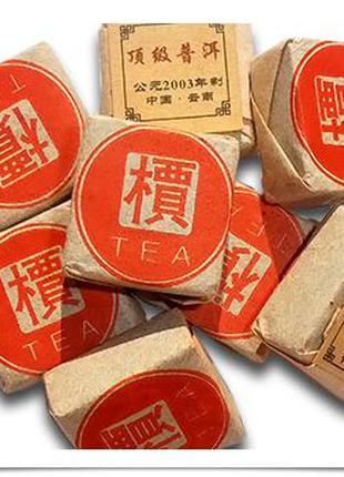Чай Пуэр прессованный Кубик 6 -8 г (3 шт.)