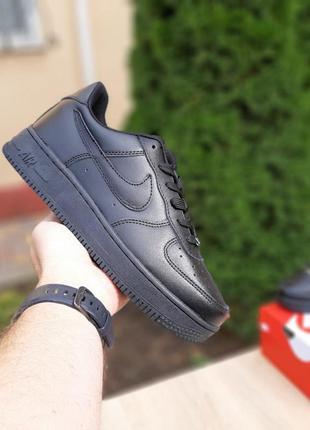 Мужские кроссовки 🔸nike air force🔸 чёрные низкие