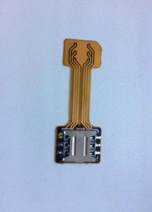 Гибридный адаптер nanosim под карту памяти 2 сим-карты + micro sd