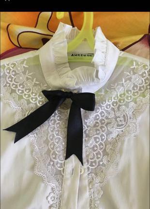 Блуза нарядная ahsen 15/16, школьная форма, школьная блуза