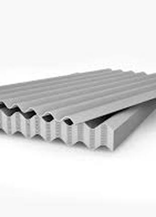 Шифер 8 хвильовий 5.8 товщина розміри 1.75на1.13 ціна 123гр лист.